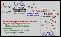 Multicomponent Synthesis of Cyclic Depsipeptide Mimics by Ugi Reaction Including Cyclic Hemiacetals Derived from Asymmetric Organocatalysis