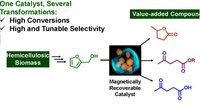 Magnetic ZSM-5 zeolite: a selective catalyst for the valorization of furfuryl alcohol to γ-valerolactone, alkyl levulinates or levulinic acid