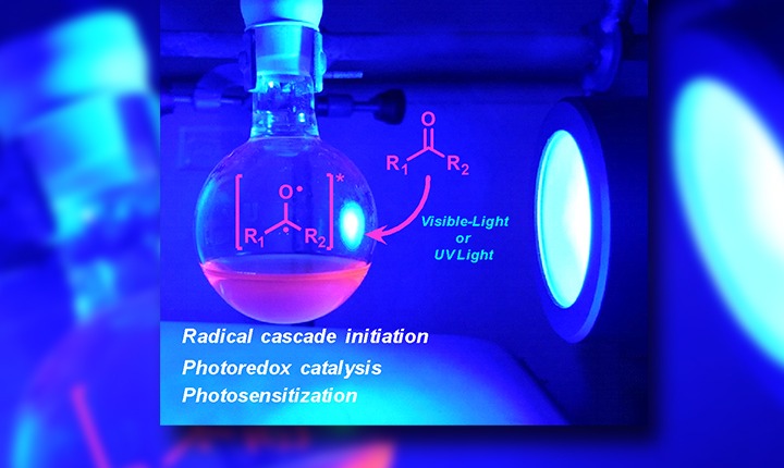 Photochemistry of carbonyl compounds: application on metal-free reactions