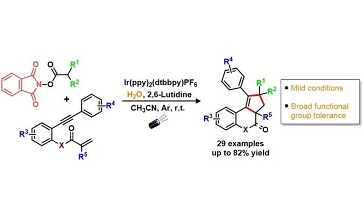 Photoredox Decarboxylative Alkylation/(2+2+1) Cycloaddition of 1,7‐Enynes: A Cascade Approach Towards Polycyclic Heterocycles Using N‐(Acyloxy)phthalimides as Radical Source